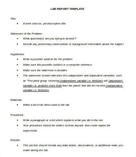 lab report template lab report template 10 free word pdf documents free premium templates