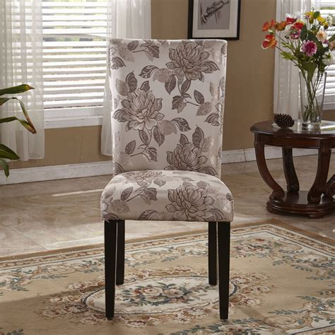 bellasario collection elegant floral parsons upholstered dining chair reviews wayfair