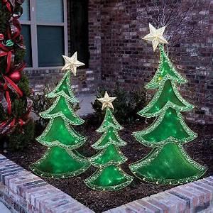 LED Decorative Christmas Trees Set of 3 Sam s Club