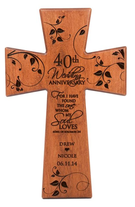 40th wedding anniversary personalized 40th wedding anniversary 40th anniversary wall cross 40th wedding anniversary gift