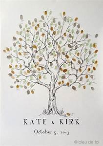 Arbre A Empreinte : wedding guest book alternative fingerprint tree large olive tree family reunion family tree ~ Preciouscoupons.com Idées de Décoration