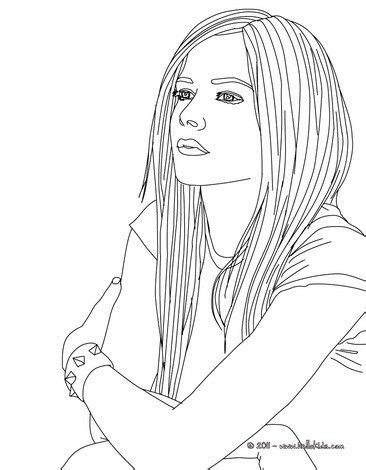 avril lavigne coloring page  famous people content
