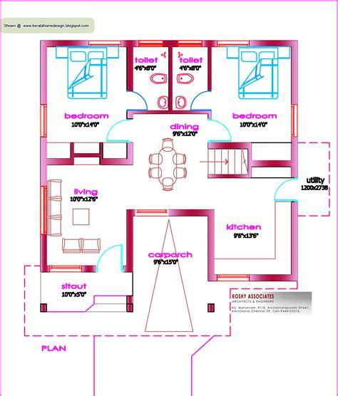 single floor house plan  sq ft kerala home design  floor plans  houses