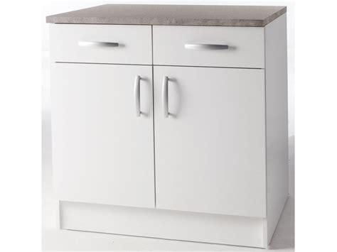 meuble de cuisine blanc meubles de cuisine meuble bas quot paprika quot blanc 80 cm 2