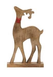 natural wood finish reindeer reindeer pinterest