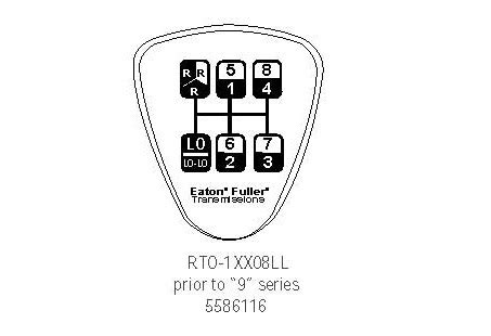 5586116 8 ll speed eaton fuller shift knob diagram how to shift a 8 ll speed transmission