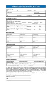consumer credit application template sample form