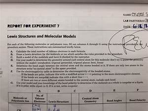 Solved  Name Crusol S Lab Partneris O Report For Experimen