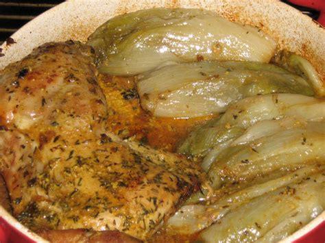 cuisse de dinde moutarde aux endives cuites recette