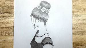 How To Draw A Girl With A Messy Bun Hair
