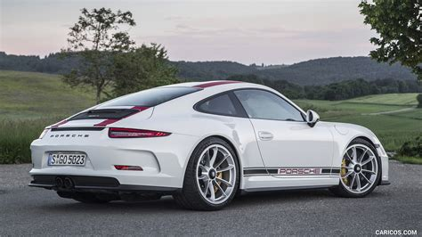 white porsche 2017 2017 porsche 911 r white rear three quarter hd