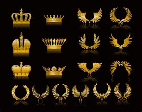 golden wheat crown vector clip art ai svg eps vector
