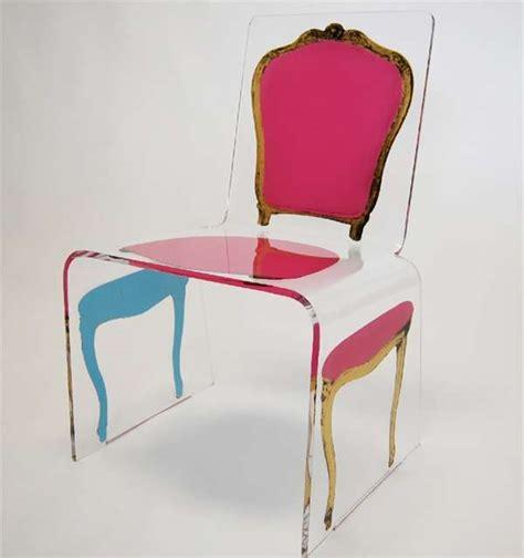 lavish post modern seating  deconstructed acrylic