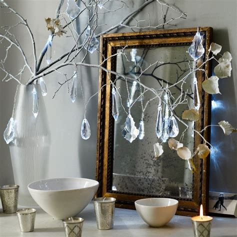 twigs for decorating add chandelier drop lights to twigs traditional christmas decorating ideas 8 ideas