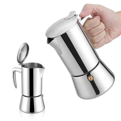 They have a vacuum layer that retains heat so the best stovetop espresso maker or moka pot is a very simple kitchen device that is used to prepare espresso coffee in the traditional italian way. 200ml Stainless Steel Espresso Coffee Maker For Gas Electric Stovetop Coffee Tea Pot Coffeeware ...