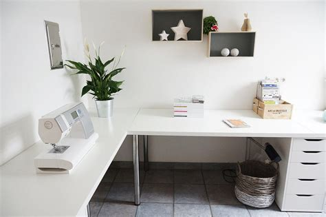minimalist corner desk setup ikea linnmon desk top