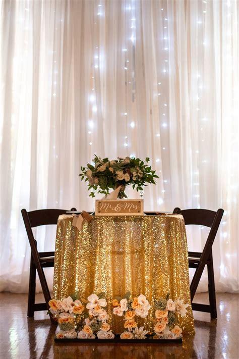 gold wedding sweetheart table glittery gold wedding l