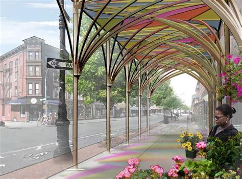 modern design nycs urban umbrellas replace sidewalk