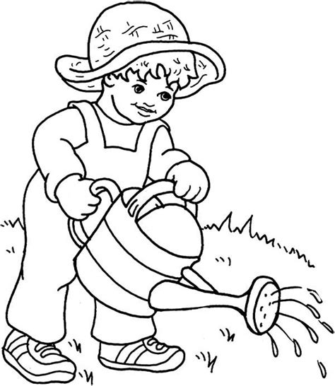 be watered plant colouring pages
