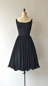 Last Ingenue dress • vintage 1950s dress • black 50s ...