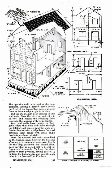 popular mechanics doll house plans doll house diy dollhouse