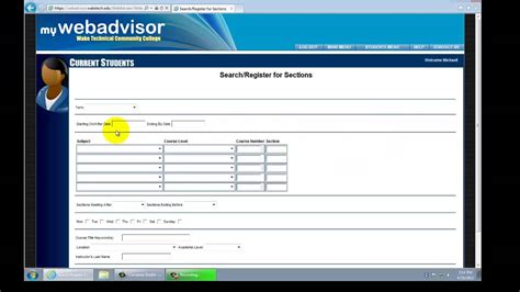 how to register at tech by using web advisor