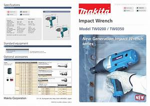 Download Free Pdf For Makita Tw0200 Impact Wrench Other Manual