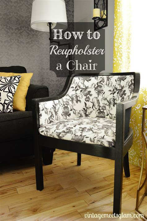 how to reupholster a chair vintagemeetsglam