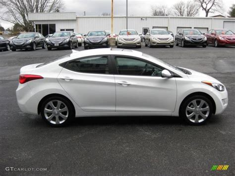 White Hyundai Elantra by Pearl White 2011 Hyundai Elantra Limited Exterior Photo