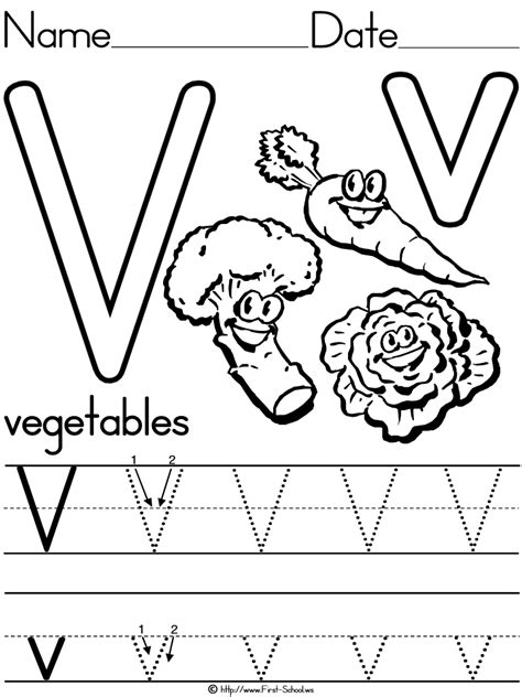 vv on letter recognition alphabet letters and