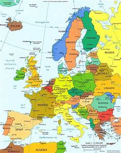 Europe Political Map - Europe • mappery