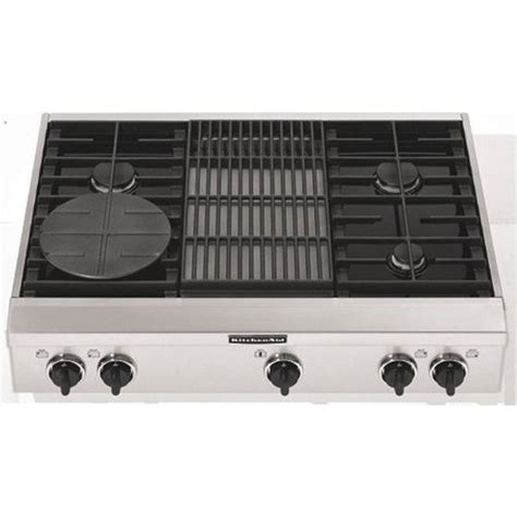 gas cooktop with grill kitchenaid kgcp462kss 36 quot sealed burner style