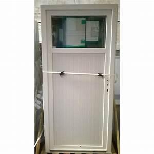 Porte De Service Aluminium : porte de service pvc blanche avec occulus bric mat ~ Dailycaller-alerts.com Idées de Décoration