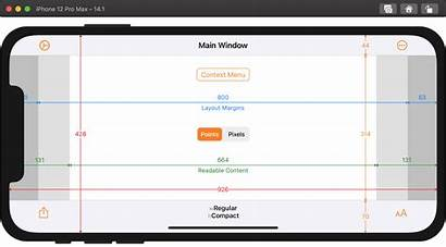 Iphone Ios Screen Sizes Adaptivity Xcode Running