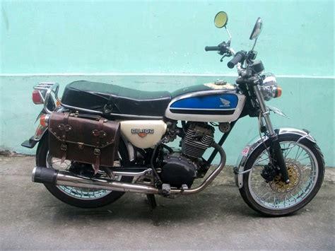 Kawasaki W175 Side Bag by Jual Tas Motor Kawasaki W175 Side Bag Kulit W175 W 175 Dan