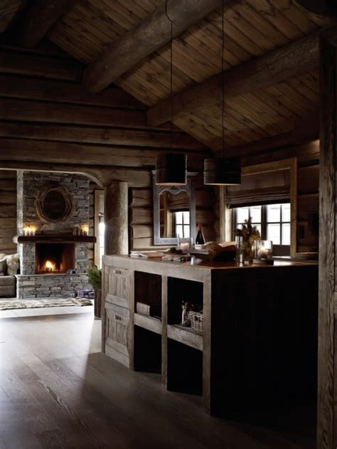 rustic rough wood house  vintage touches digsdigs