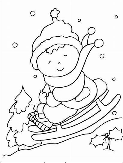 Winter Preschool Coloring Printable Pages Kindergarten Preschoolers