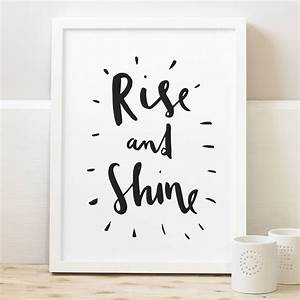 Rise And Shine ... Wall Typography Quotes