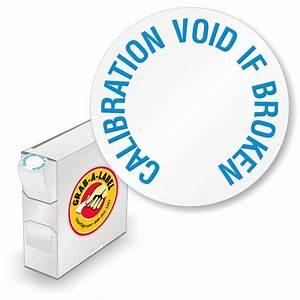 calibration void 3 4quot dia 2 mil destructible white vinyl With calibration void labels