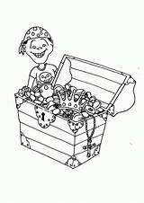 Coloring Treasure Chest Open Clipart Library Comments Clip sketch template