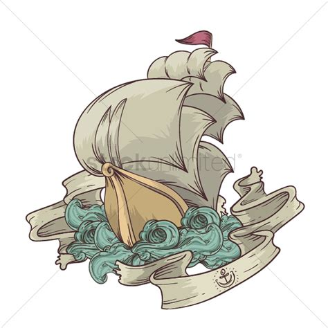 Boat Icon Tattoo by Sailing Boat Tattoo Design Vector Image 1435007