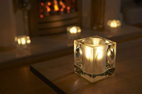 what is a tea light auraglow frosted polished glass led tea light candle