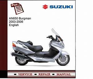 Suzuki An650 Burgman 2003-2006 Service Manual