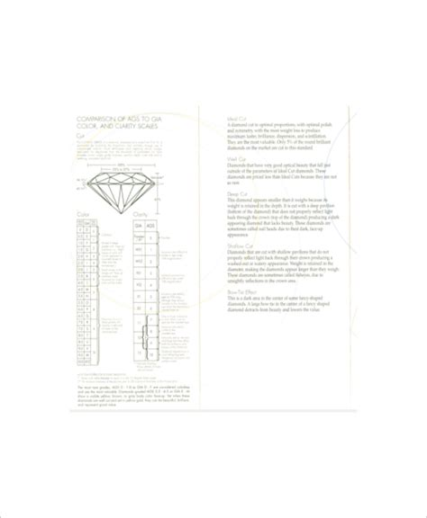 diamond cut  clarity charts  sample  format  premium templates