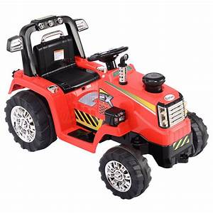 12v Battery Powered Kids Ride On Tractor Electric Toys W   Mp3 Led Lights Red