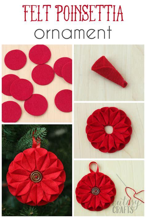 poinsettia felt christmas ornament diy candy