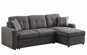 Gus sectional sofa 501677 by coaster in fabric w sleeper for Gus sectional sleeper sofa