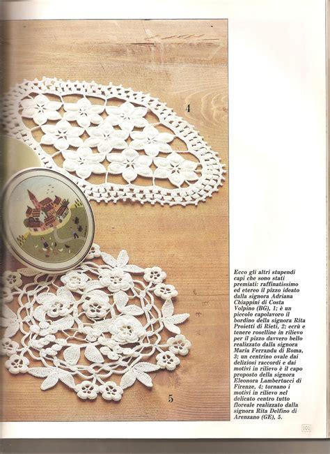 napperon ovale avec fleurs 1 toutes les grilles grilles gratuites point de croix