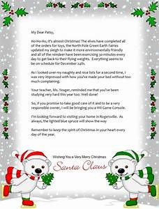 free printable christmas letters from santa sanjonmotel With unique christmas letters