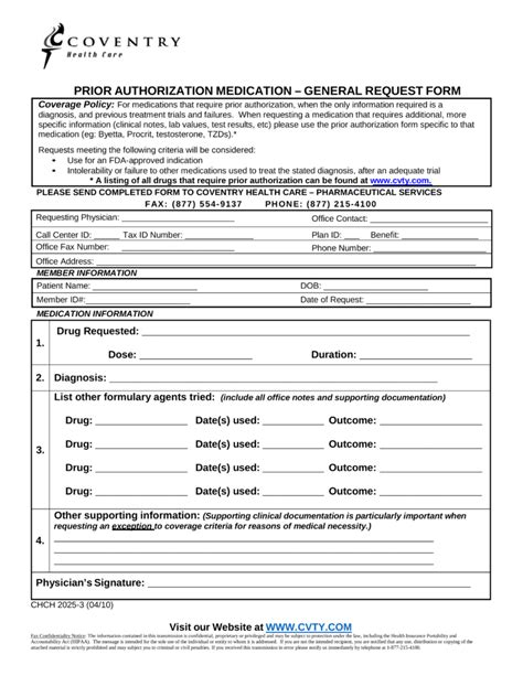 aetna coventry prior auth form free coventry health care prior rx authorization form
